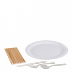 BBQ Pack 4 - Including plastic cutlery & large paper plates